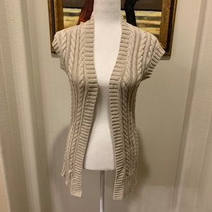 Rubbish Cable Knit Open Front Cardigan